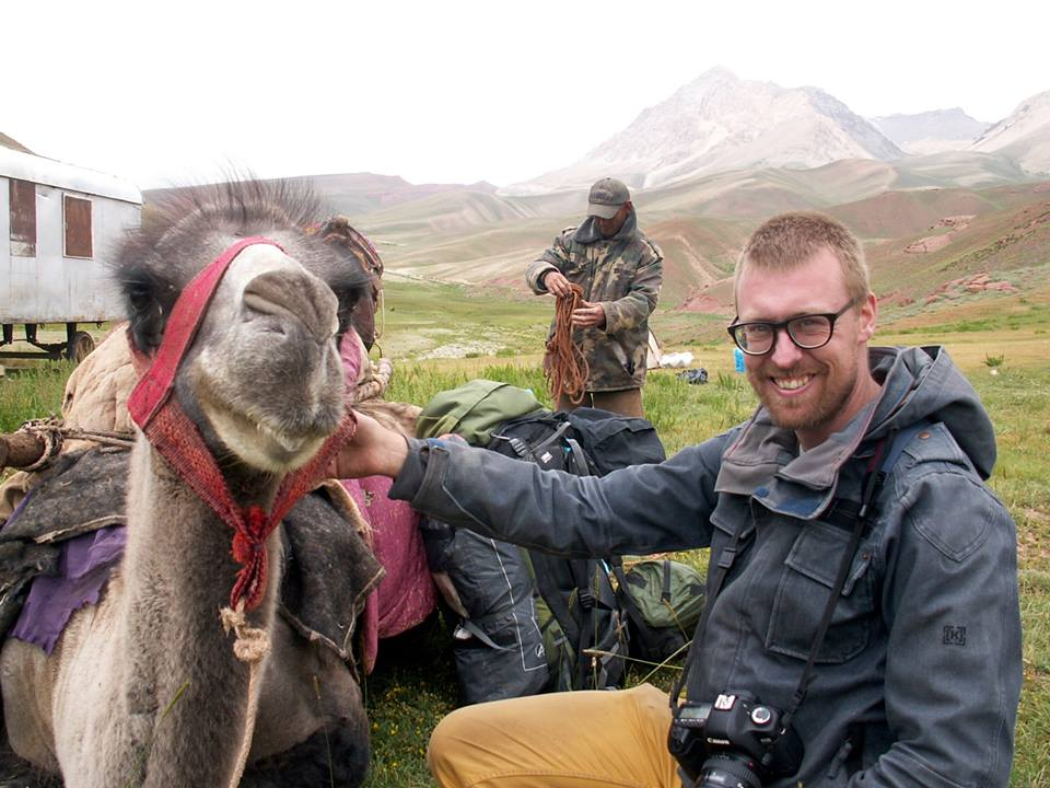 Pamirian expedition - Paul with camel